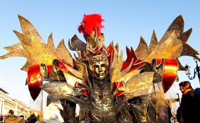 Personnage déguisé lors du Carnaval de Venise 2015