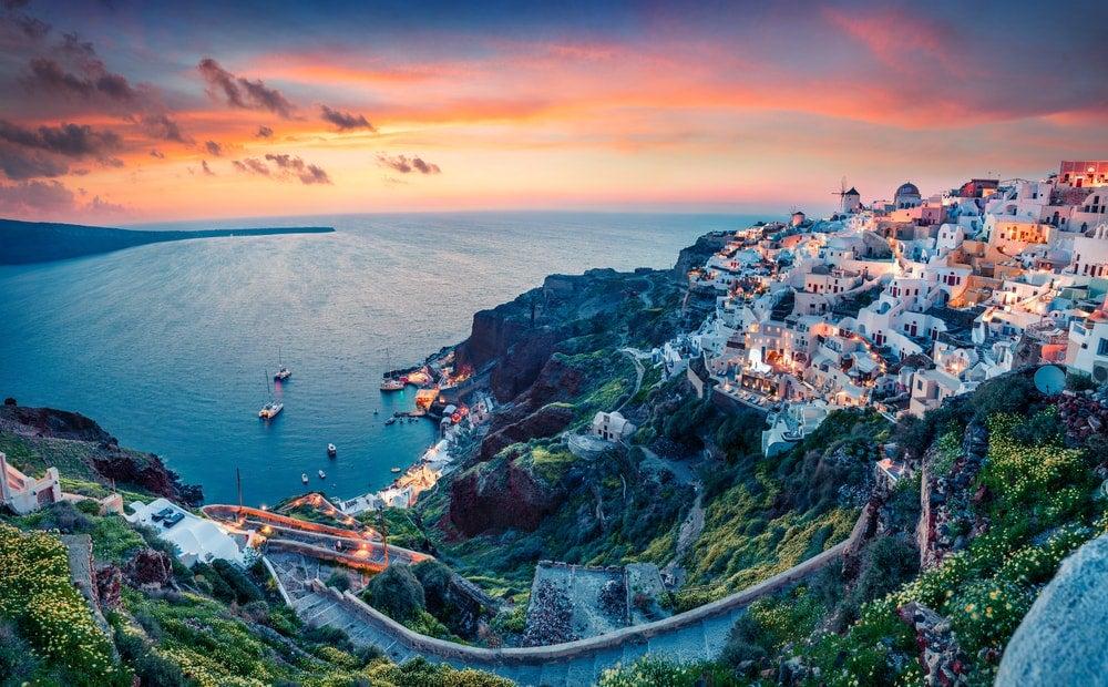 oia grèce coucher du soleil - blog opodo