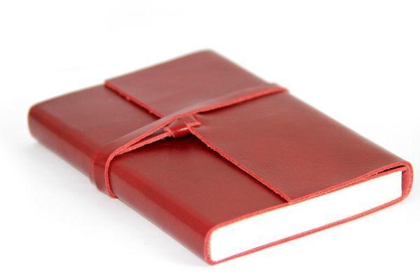 Carnet de voyage Expédition en cuir rouge, Carnet du Voyageur