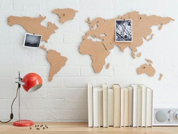 Carte du monde en liège, Place A