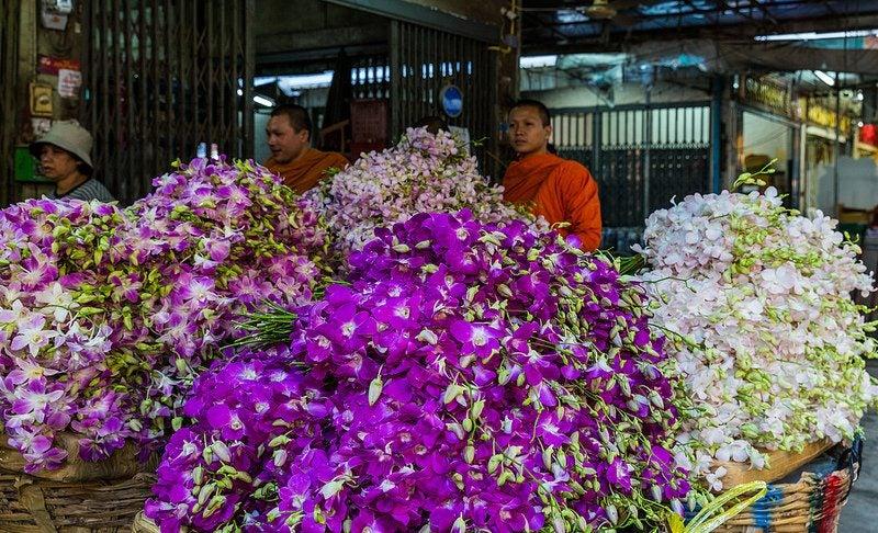 marché aux fleurs Bangkok - blog Opodo