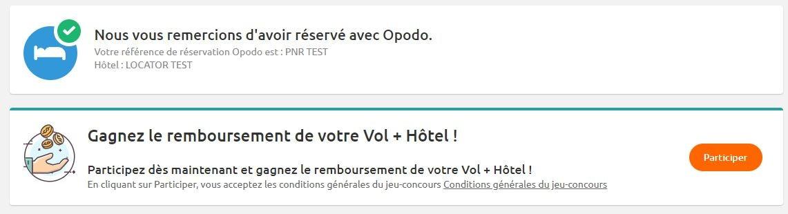 jeu concours opodo - blog Opodo