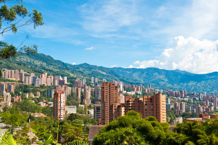 Medellin, vue aérienne - Colombie