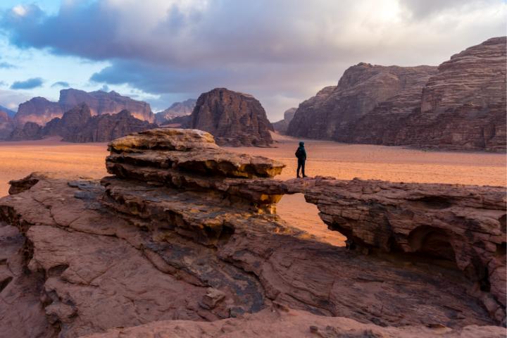 Jordanie - Wadi Rum trek dans le désert