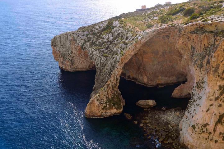 Vue sur Blue Grotto, la grotte bleue de Malte