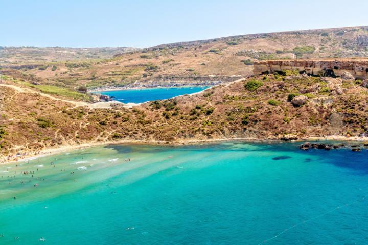 Plage de Ghajn Tuffieha à Malte