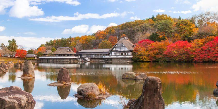 lac automne hachinohe japon