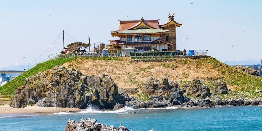 île temple côte hachinohe japon