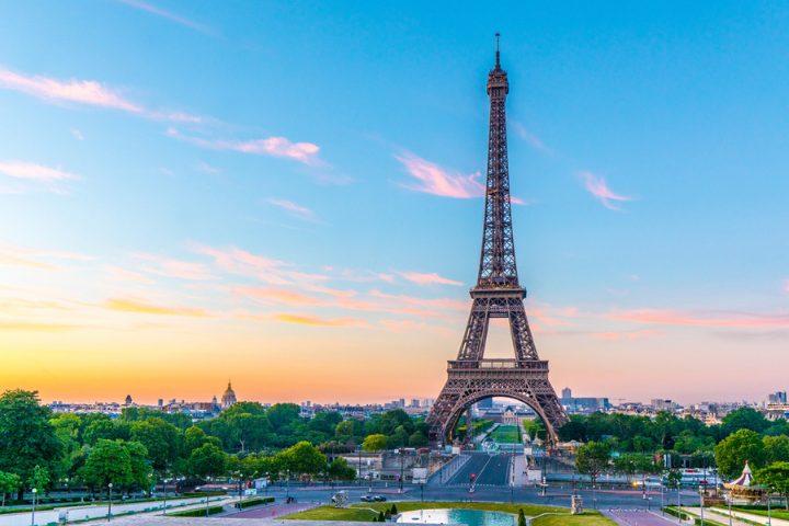 Vue sur la Tour Eiffel à Paris